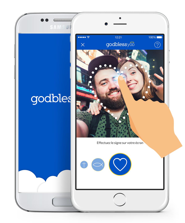 Godblessyoo est l'application positive qui vous offre la possibilité de propager le bien